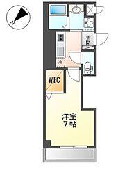 小田急小田原線 町田駅 徒歩4分の賃貸マンション 4階1Kの間取り