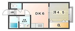 日之出荘苑D棟[2階]の間取り