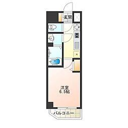 ララプレイス天王寺ルフレ 11階1Kの間取り