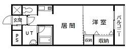 サテラ永山[206号室]の間取り