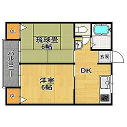 なぎさマンション[31号室]の間取り