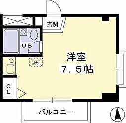 下田第三マンション[401号室]の間取り