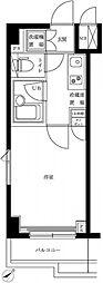 東急田園都市線 溝の口駅 徒歩7分の賃貸マンション 3階1Kの間取り