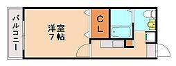 カーサクリーヴォ[2階]の間取り