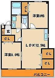 メゾンH・K[1階]の間取り