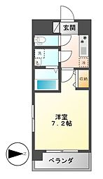 UURコート名古屋名駅[3階]の間取り