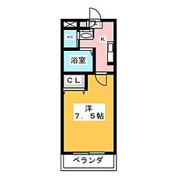A・City柴田本通 5階1Kの間取り