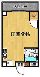 兵庫県明石市大蔵谷奥の賃貸マンションの間取り