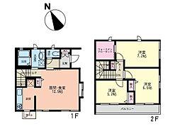 [テラスハウス] 神奈川県横浜市都筑区あゆみが丘 の賃貸【/】の間取り