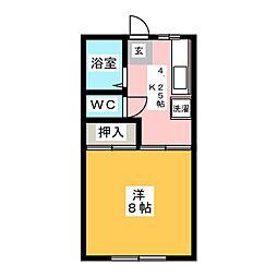 シティアクティブ[2階]の間取り