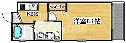 ドーリアNIJO駅東[2-D号室号室]の間取り