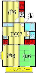 メゾン駒木[1階]の間取り