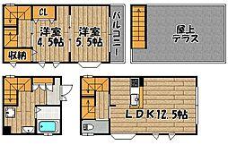 [一戸建] 兵庫県川西市鼓が滝1丁目 の賃貸【/】の間取り