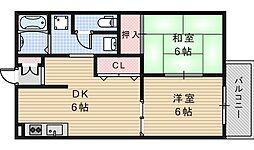 中野ハイツ[203号室]の間取り