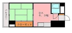 福岡県福岡市博多区博多駅前2丁目の賃貸マンションの間取り