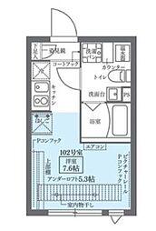 COCOCUBE KITA-SENJU 1階1Kの間取り
