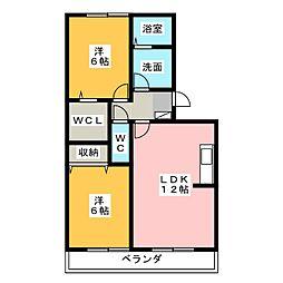 賀茂川ガーデンプレイスC[2階]の間取り
