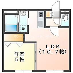 仮)グランメール平岸3-1 3階1LDKの間取り