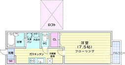 JR仙山線 東北福祉大前駅 徒歩15分の賃貸アパート 1階1Kの間取り