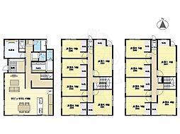 阪急千里線 北千里駅 バス7分 小野原南下車 徒歩5分の賃貸アパート 2階ワンルームの間取り