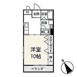 ユース稲熊 1階[103号室]の間取り