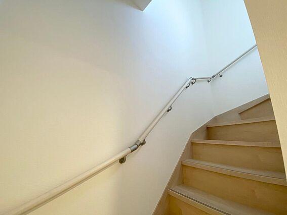 階段には手すり...