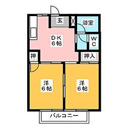 シティハイツ丹羽[1階]の間取り
