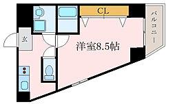 京阪本線 森小路駅 徒歩1分の賃貸マンション 4階1Kの間取り