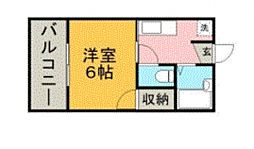 ファジール紫[204号室号室]の間取り