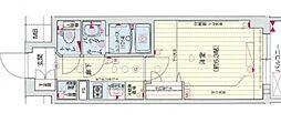 Osaka Metro谷町線 四天王寺前夕陽ヶ丘駅 徒歩5分の賃貸マンション 10階1Kの間取り