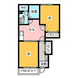 セレッソヒルズI[1階]の間取り