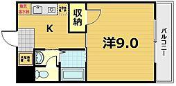ジュネス京田辺[1階]の間取り