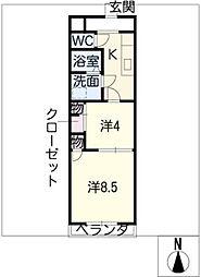 ロフティ31奈良屋[3階]の間取り