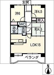 愛知県日進市栄5丁目の賃貸マンションの間取り