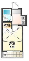 クレスト津田沼[2階]の間取り