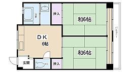 郷免住宅ビル[3階]の間取り