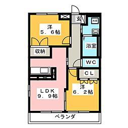 トレゾール トシ[2階]の間取り