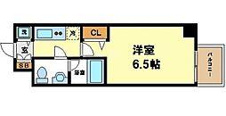 リンクハウス西本町 6階1Kの間取り
