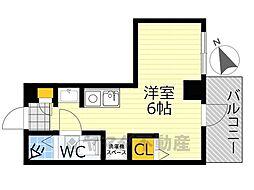 PRINCE HOMES大井町 3階ワンルームの間取り