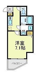 ラパンジール四天王寺東[11階]の間取り