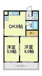 吉野ビル1[3階]の間取り