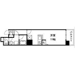 Ritz SQUARE Qbe(リッツスクエアキューブ)[2階]の間取り