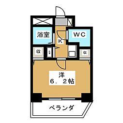 プレサンス京都駅前[5階]の間取り