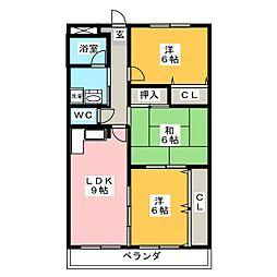 エステート15[4階]の間取り