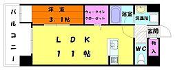 カーサカッシーニ[4階]の間取り