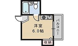 チュリスアベノ[4階]の間取り