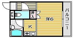 エレガントマンション[106号室]の間取り