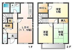 [一戸建] 兵庫県神戸市西区二ツ屋1丁目 の賃貸【兵庫県/神戸市西区】の間取り
