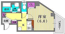 兵庫県神戸市長田区松野通2丁目の賃貸マンションの間取り