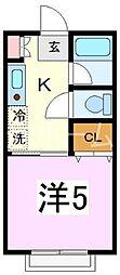 ENハイツエコ秋津町[1階]の間取り